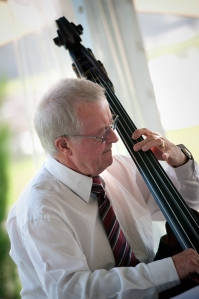 Dieter Vogt, swing double bassist with Greg Poppleton and his Bakelite Swing Jazz Band