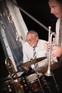 Laurie Bennett drums. Greg Poppleton & his Bakelite Swing Jazz Band