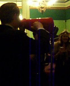 Greg Poppleton sings at 1920s Party, Carrington Hotel, Katoomba