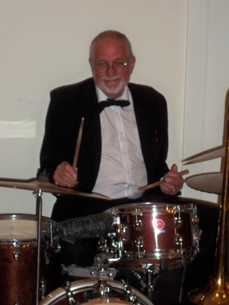 Laurie Bennett - one of Sydney's top drummers. He's played in all the big theatre and TV bands, backed too many jazz greats to list here and has even played in the big bands of Cliff Richards, Harry Secombe and Liza Minelli