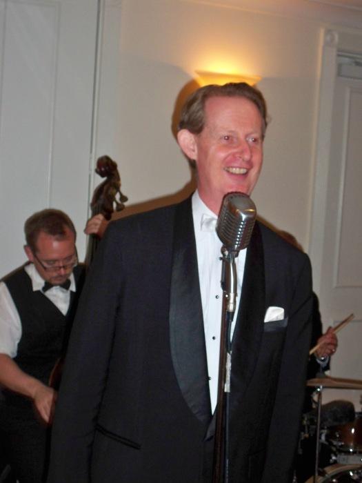 Greg Poppleton, Sydney's only authentic 1920s & 30s singer in dinner suit. Kate & Andrew's wedding theme was 1930s