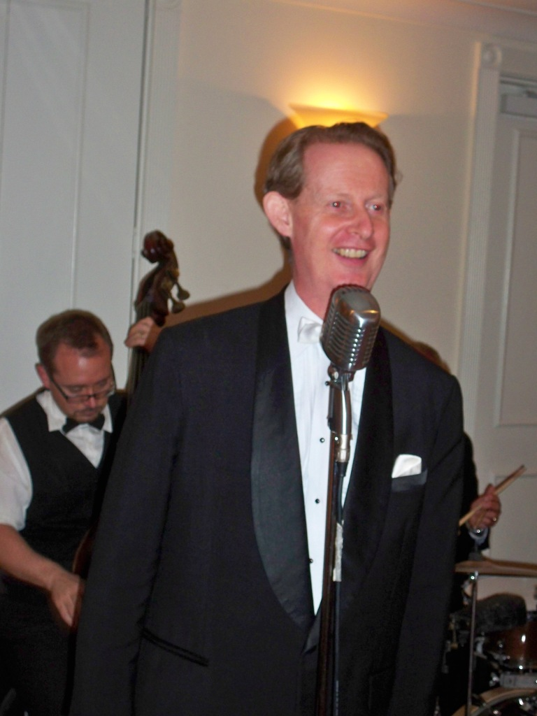 Greg Poppleton, Sydney's only authentic 1920s & 30s singer in dinner suit. Kate & Andrew's wedding theme was 1930s