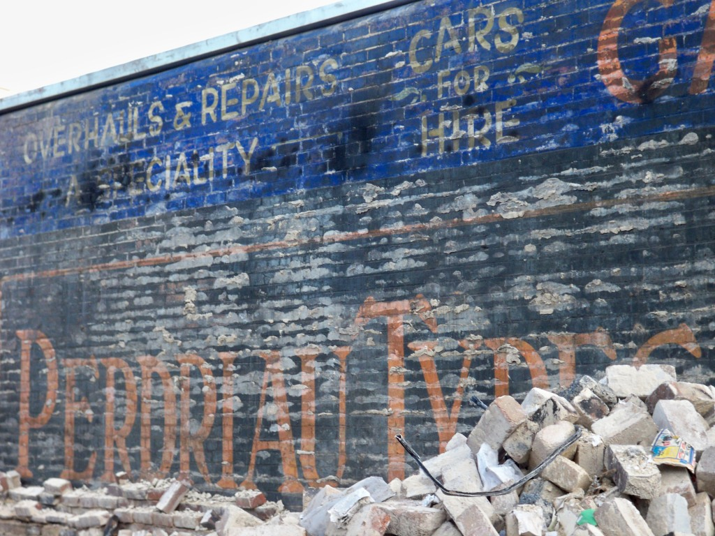 Perdriau Tyres Logo - The Oldest Extant?. Before it was painted over by Rod & Todd