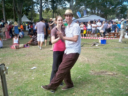 Swing Dancers at Newtown Festival, 2SER Chillax area