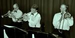 Horn section, The Lounge Bar Lotharios (l-r) Al Davey, Geoff Power, Ben Gurton