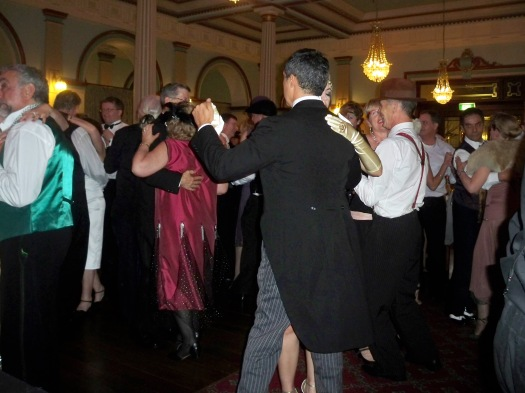 Dancing to The Lounge Bar Lotharios at the 2013 Art Deco Ball, Carrington Hotel, Katoomba
