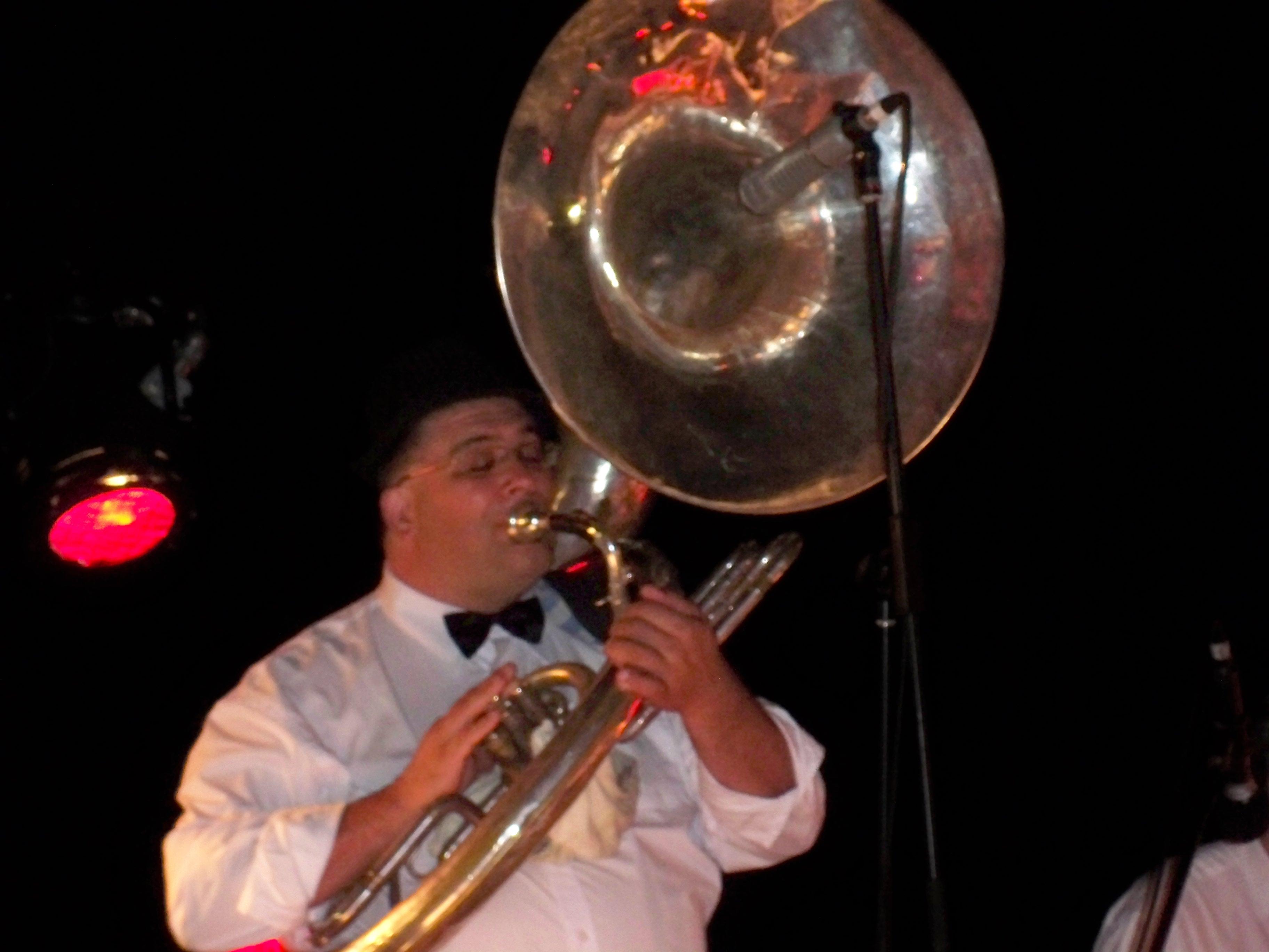 The Lounge Bar Lotharios sousaphone player, Rod Herbert