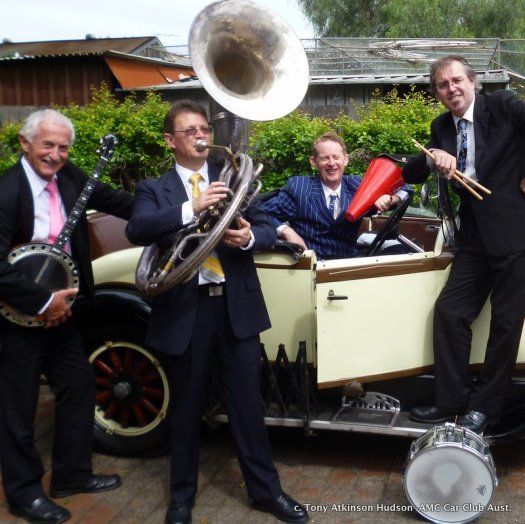 Greg Poppleton and the Bakelite Broadcasters around the 1929 Essex Roadster