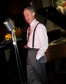 Greg Poppleton, 1920s-30s singer with The Bakelite Broadcasters for Sunday carnival in the Victoria Room, Darlinghurst