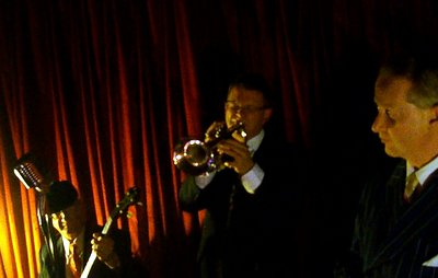 Geoff Power Jazz Trumpet solo with greg Poppleton and the bakelite Broadcasters in the Django Bar of the Camelot Lounge