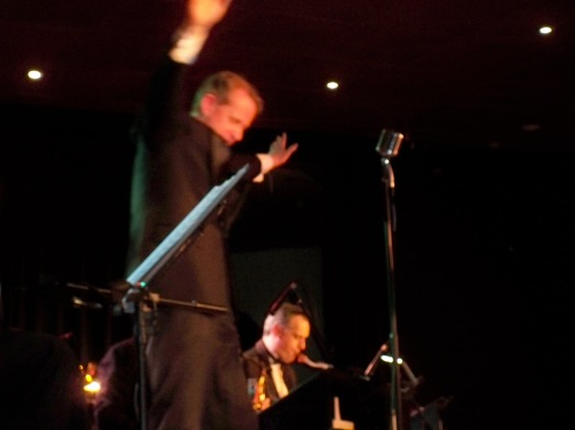 Greg Poppleton, Sydney's only authentic 1920s singer , fronting The Louneg bar Lotharios 1920s show in Canberra