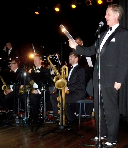 Greg Poppleton Tommy Dorsey Tribute MC at Norths Leagues, 23 June 2013. Picture by Helen Fenton