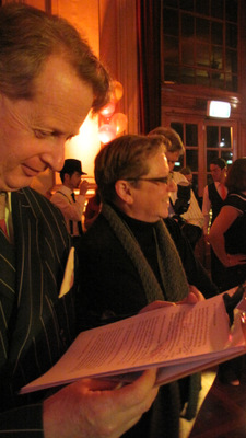 Greg Poppleton getting ready to introduce Canberra 100 Creative Director, Robyn Archer