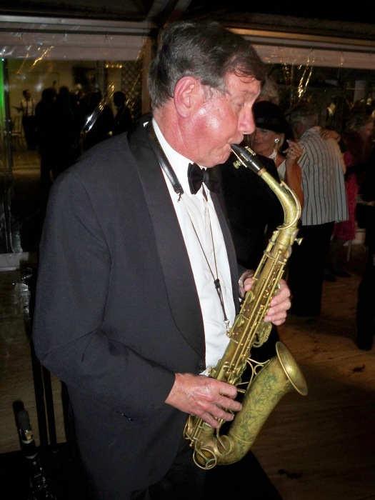 Paul Furniss on alto sax. He also played clarinet on the night