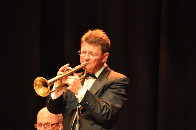 Geoff Power, 1st trumpet and musical director with The Lounge Bar Lotharios