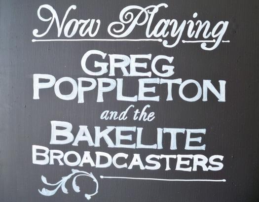 Greg Poppleton and the Bakelite Broadcasters Blackboard