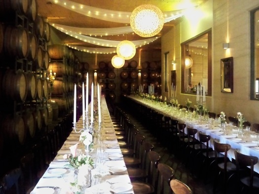 This is the Barrel Room at Margan Winery where the reception took place