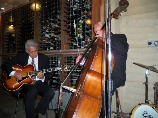 Chuck Morgan, guitar, Darcy Wright, double bass with Greg Poppleton and the Bakelite Broadcasters