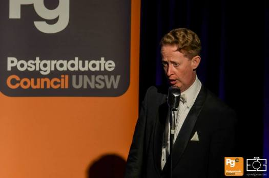 Greg Poppleton singing the songs of the 1920s at the Great PostGrad Ball at UNSW