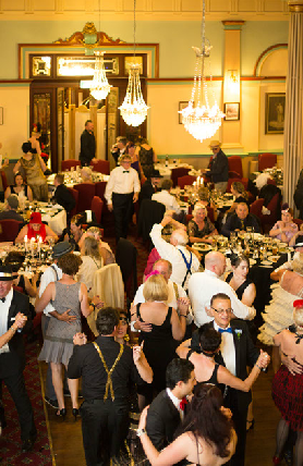 The dance floor filled as soon as we started playing. People love to dance to our music and to step back into a more elegant time - the 1920s.