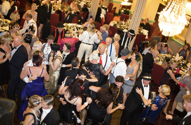 Full dance floor. Greg Poppleton and the Bakelite Broadcasters is Sydney's only authentic 1920s singer and band