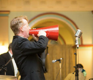 Greg Poppleton, genuine 1920s megaphone