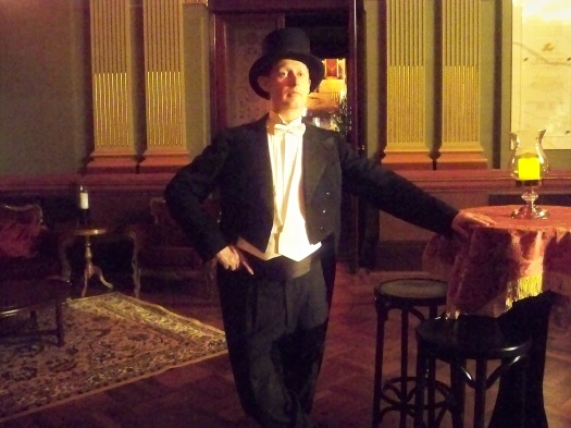 Greg Poppleton, singer of Edwardian and Victorian ditties, sentimental, unrequited and packed full of moral goodness.