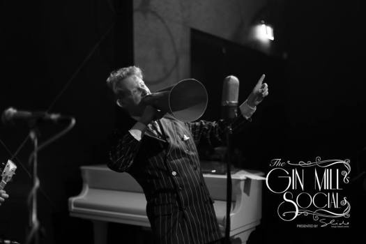 Greg Poppleton leads the Gin Mill Social 1920s trio. Greg Poppleton - Sydney's only authentic 1920s singer, Geoff Power on sousaphone and trumpet, with Paul Baker on banjo.