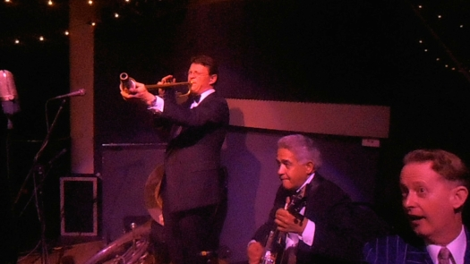 Geoff Power doubles on trumpet with the Greg Poppleton and the Bakelite Broadcasters Trio
