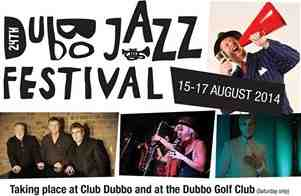 Greg Poppleton and the Bakelite Broadcasters headling the 2014 Dubbo Jazz Festival with 2 Saturday night shows