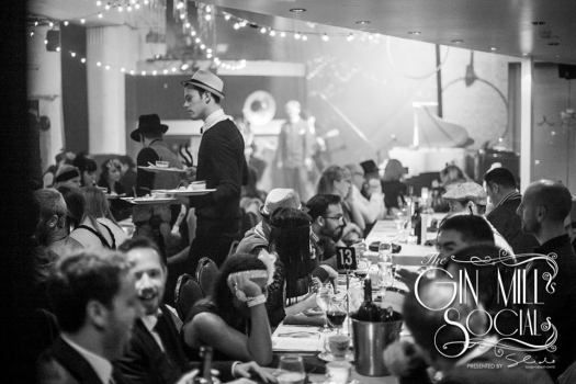 The Gin Mill Social begins. All set for a night of great 1920s cuisine and amazing entertainment.