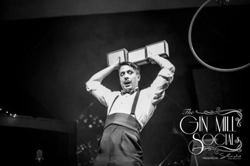 Mr Gorski plays with blocks