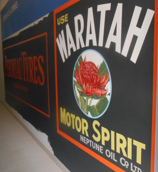 Recreated 1911 Mural, 3 November 2014. A work-in-progress.