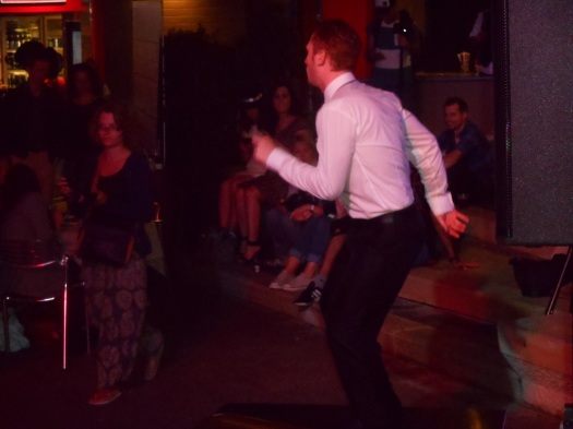 This photo does not do justice to the incredible tap-dancing virtuosity of Gin Mill Social tapper, Tom. He had the crowd on their feet!