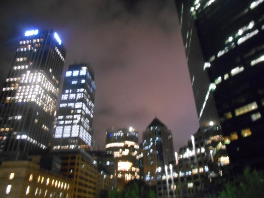 The big city taken from Circular Quay train station on the way home from the third, fun, Rocks Village Bizarre..