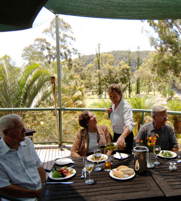 The beautiful Riverbend Restaurant, Wisemans Ferry. When you arrive, you are served a delicious antipasto plate as your first course. You then sit back and enjoy the music and we take your orders for your main course which is served during the music break.
