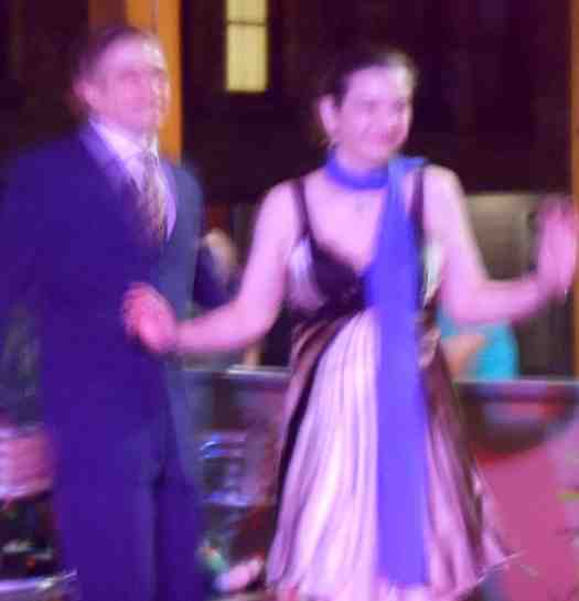 The beauty of my slow camera is that it protects identities. A handsome couple swing dancing to Greg Poppleton and the Bakelite Broadcasters.
