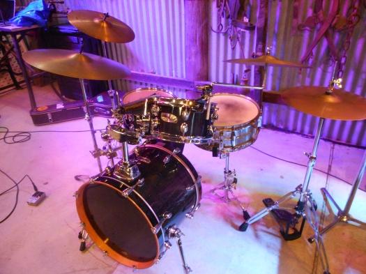 Bob Gillespie's drum kit.