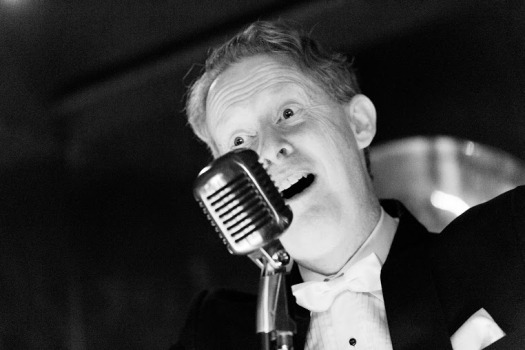 Greg Poppleton has been described as having an 'uncanny knack' of sounding exactly like a 1920s singer.