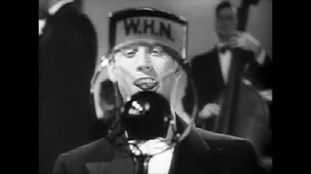 Still from Broadway Melody of 1936 featuring old NYC radio station callsign WHN.