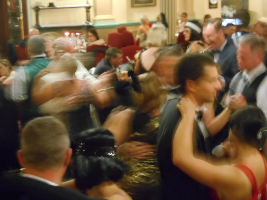 Here's what playing to a Grand Ball Room full of swirling, swinging, dancers looks like from the Greg Poppleton and the Bakelite Broadcasters' stage.