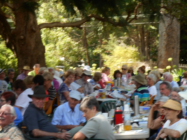 Some of the audience enjoying Greg Poppleton and the Bakelite Broadcasters, Jazz at The Pines, Dural.