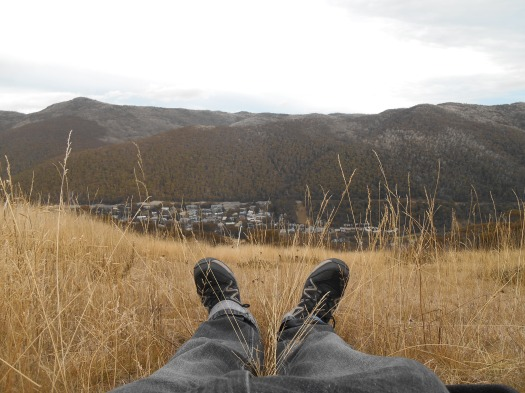 Laying on the poa, listening to the Dixie Street All-Stars (acoustic) playing in the valley below.