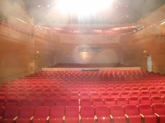 Looking into The Concourse auditorium from the stage during the dress rehearsal.