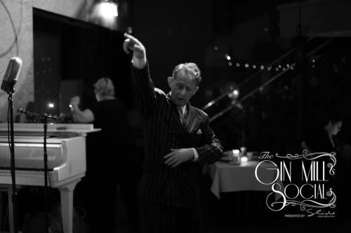 Opening the Gin Mill Social, authentic 120s singer, Greg Poppleton