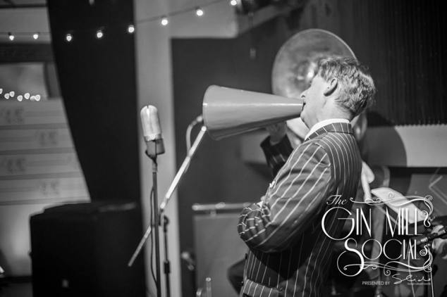 Greg Poppleton, Greg Poppleton and the Bakelite Broadcasters Trio, opens the Gin Mill Social with plenty of Roaring 20s hotcha.