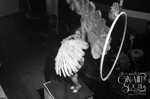 Missy the fabulous fan dancer.