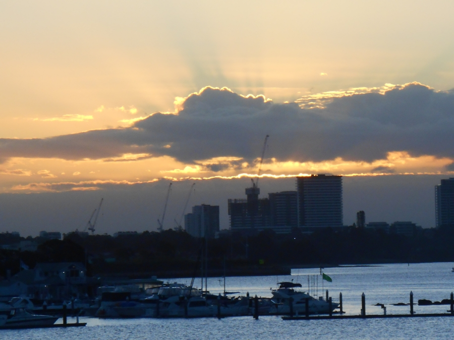 The last rays of the sun.