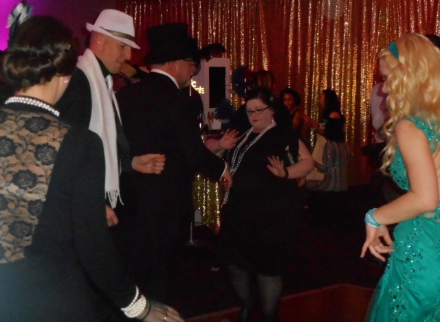 Dancing to hot jazz from the 1920s by Greg Poppleton and the Bakelite Broadcasters