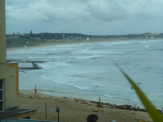 It was a wet and windy day, but inside was cosy and the music was hot. Cronulla used to be such a wide beach even when the tide was in.